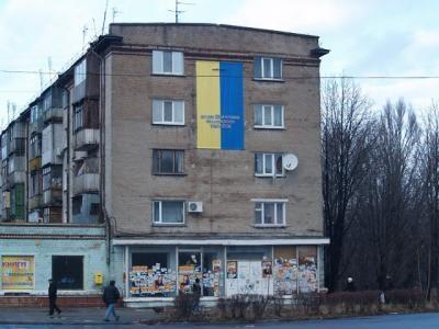 Фасад, где висели часы
