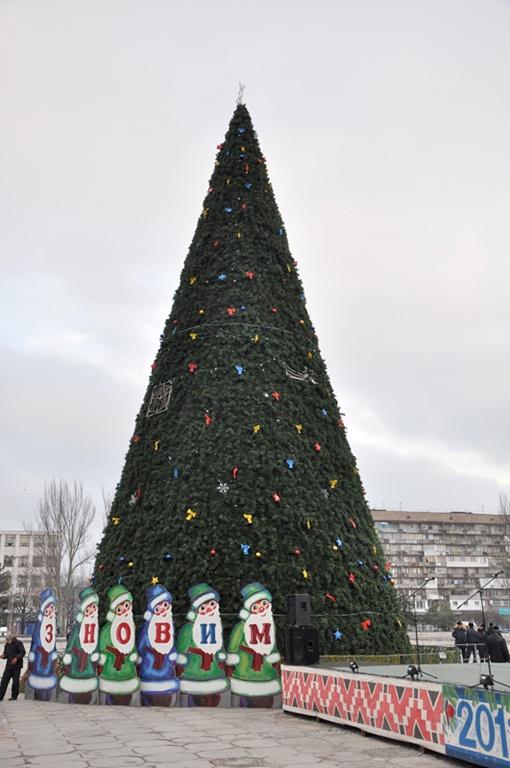 Высота елки– 22 метра