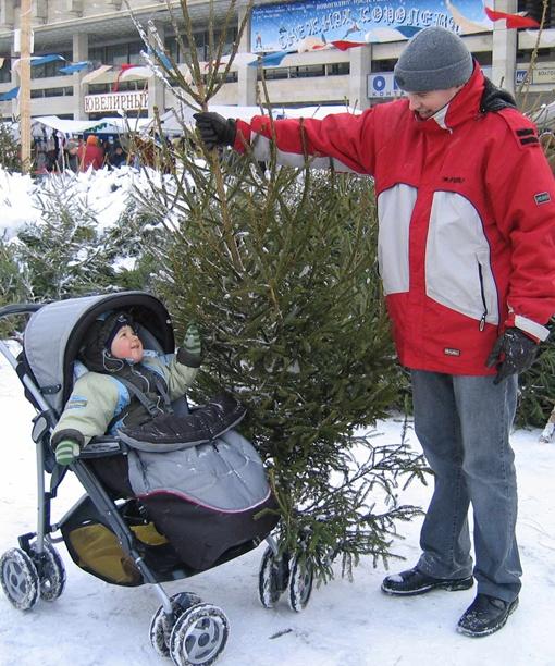 - Классная елочка - под нее мама с папой смогут много подарков положить!Фото с сайта www.kid.ru