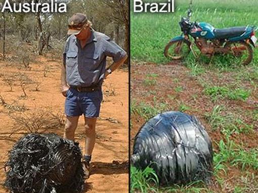 Специалист отмечает, что ранее похожие шарообразные объекты уже находили в Бразилии в 2008 году и в Австралии в 2007 году