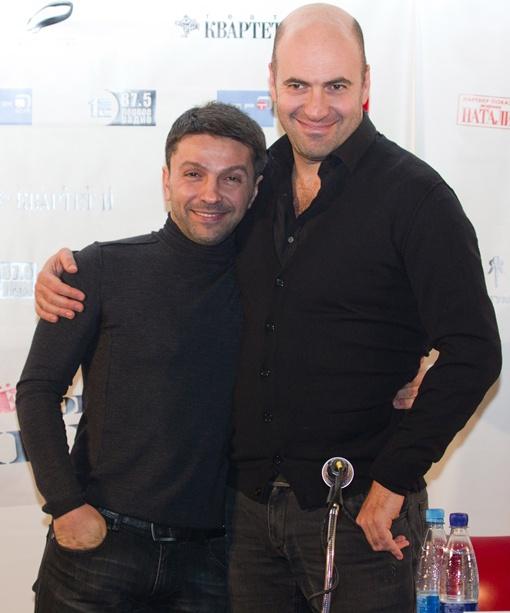 Барац и Хаит на презентации фильма