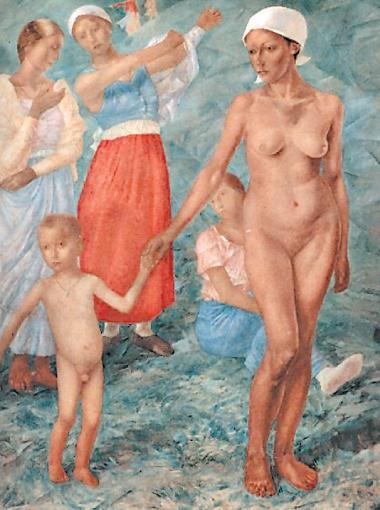 Еще одно известное эротическое произведение Петрова-Водкина -