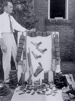 Оружие, изъятое у Бонни Паркер и Клайда Барроу. Фото