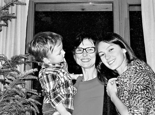 Ирина Горина с детьми.