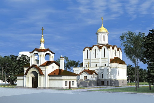 Проект строящейся церкви, предложенный местным архитектором Игорем Саенко