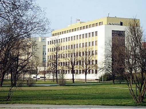 Здание МВД в Праге. Здесь решают судьбу беженцев.