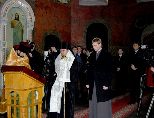 Молебен в честь выставки, фото: пресс-службы Национального Киево-Печерского историко-культурного заповедника