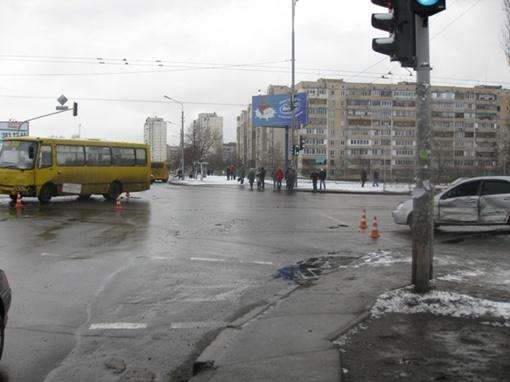 Место аварии. Фото пресс службы УГАИ Киева