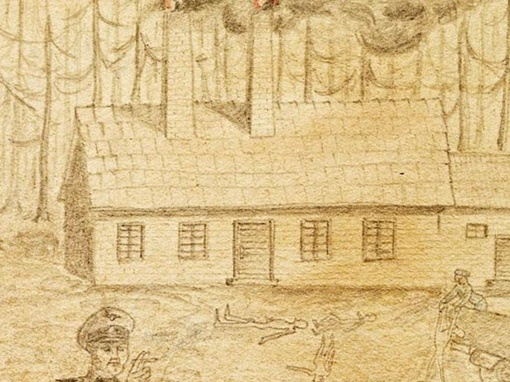 Рисунки неизвестного заключенного, сделанные предположительно до 1943 года