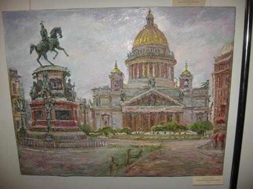 Лазаренко представил и полотна, выполненные в более привычной технике, - маслом.