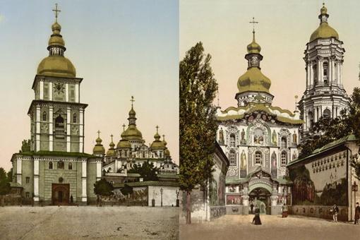 Входы в Михайловский собор и Лавру.