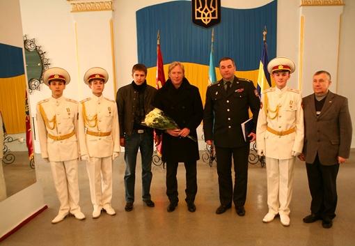 Торжественная встреча. Фото А.Лукацкого, пресс-служба