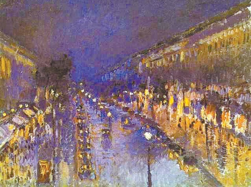 Бульвар Монмартр ночью (из серии
