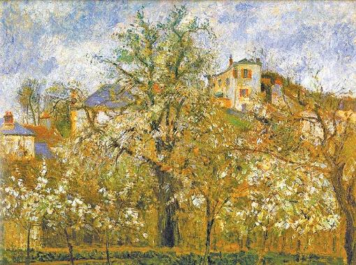 Фруктовый сад в Понтуазе. Весна. 1877 г.