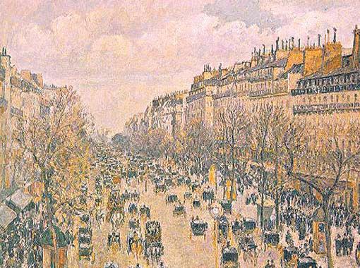 Бульвар Монмартр в Париже. 1897.