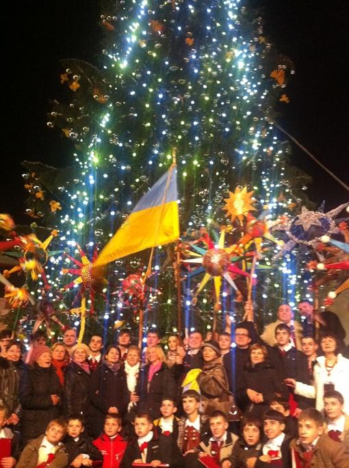 Украинская елка была высотой 30 метров