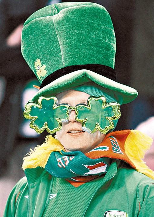 Типичный ирландский болельщик-