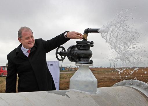 В январе Анатолий Владимирович открывал водовод в Феодосии