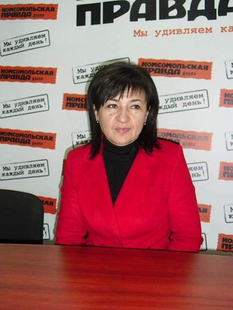 Валентина Гинзбург-начальник Главного управления здравоохранения Днепропетровской областной государственной администрации