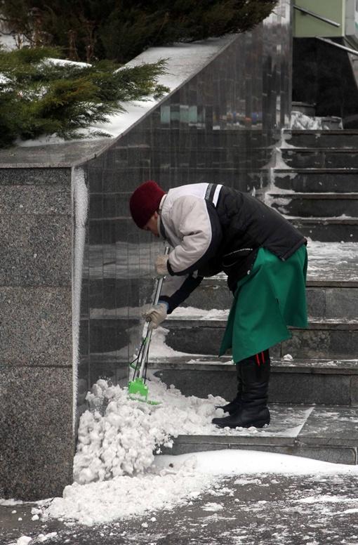-Не хватает времени, чтобы почистить. Да и чем чистить - веником? Фото Павла ДАЦКОВСКОГО.