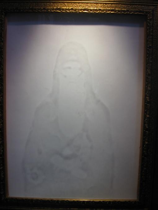 На стекле отпечаталось только изображение святого Агапита. Фото автора
