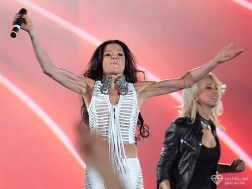 Руслана на летнем концерте в  Киеве. Фото: tochka.net