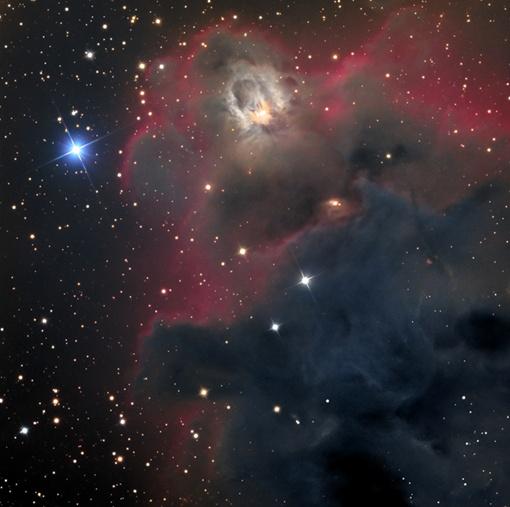 Снимок темной туманности Линда (LDN 1622)