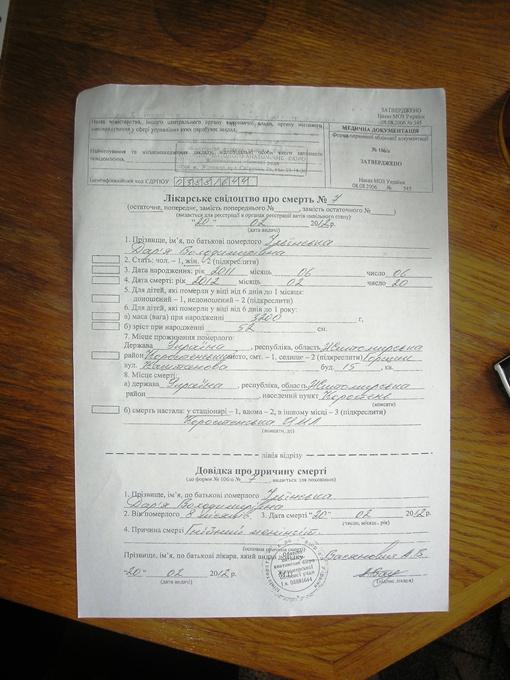 Диагноз 8-месячной Даше поставили лишь после смерти… Фото автора