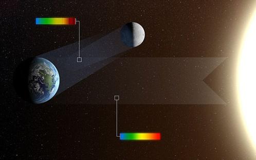 Земную жизнь выдал свет, отраженный от Луны. Фото с сайта NАSА