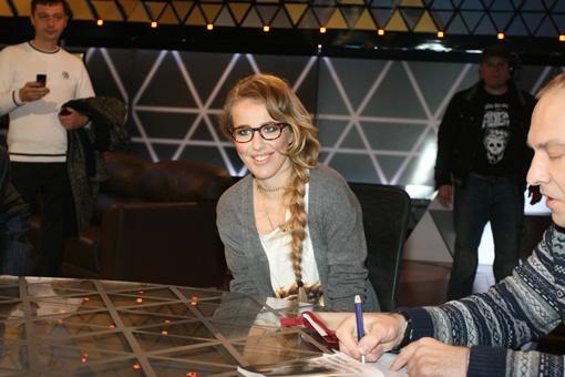 Ксения Собчак в Киеве. Фото Антона Лущика