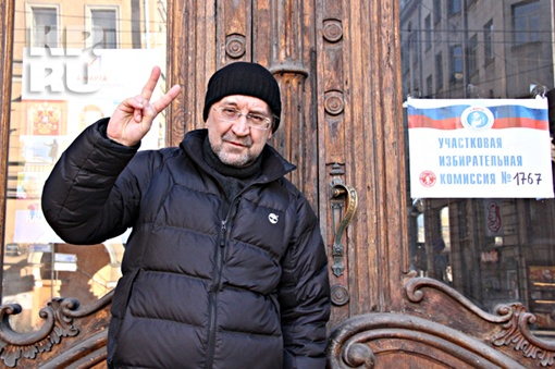 Юрий Шевчук проголосовал на Литейном Фото: Юрий СОКОЛОВ