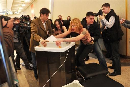 Хулиганок задержала полиция. Фото: kp.ru