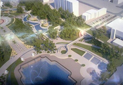 В проекте обновленной парковой зоны заложено много сюрпризов для горожан. Фото автора.