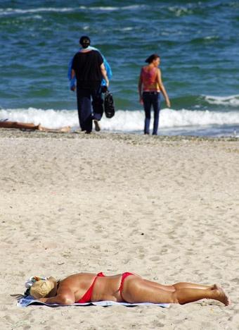Такая картина представилась одесситам на выходных.Фото Алексея Кравцова.