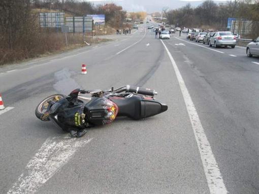 Когда Сергея снесло прямо на джип мажорши, его мотоцикл проехал еще несколько метров. Фото с сайта УГАИ Закарпатской области