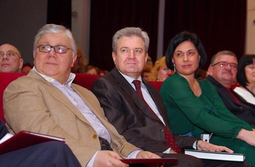 В первых рядах сидели Игорь Коваль, сергей Гриневецкий и Елена Павлова