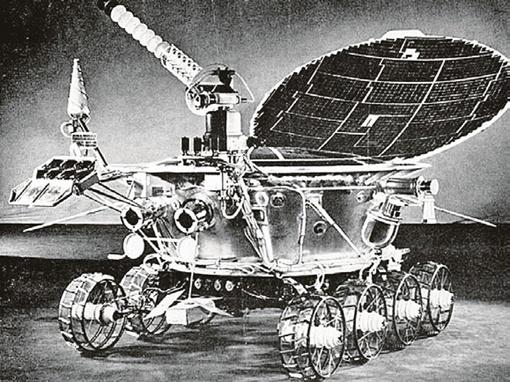 € Так выглядел первый лунный самоходный аппарат.