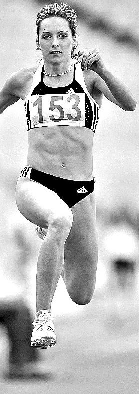Ольга Саладуха: - Прыгнуть выше головы? Да нет проблем! Фото из личного архива Ольги Саладухи.