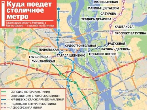 Схема киевского метро на