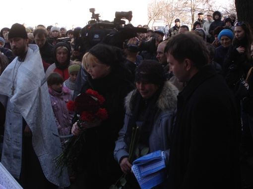 Прощание с Оксаной. Фото автора