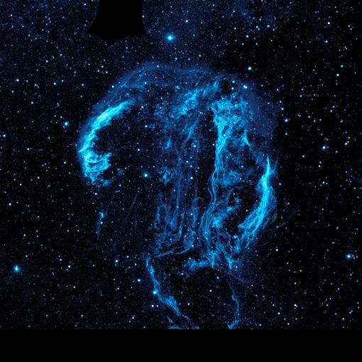 На этом снимке  показана так называемая туманность Петля лебедя. Фото НАСА
