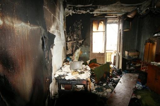 Квартира выгорела дотла
