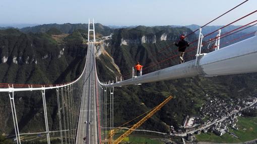 Мост соединил стороны каньона Дэхан