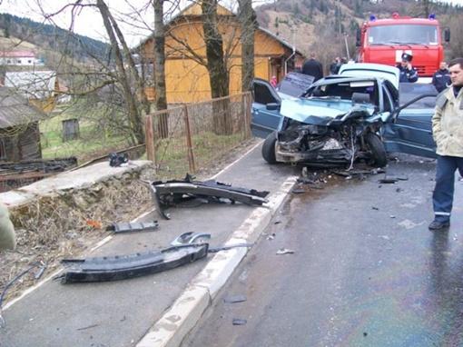 Место аварии. Фото пресс-службы Управления ГАИ МВД Украины