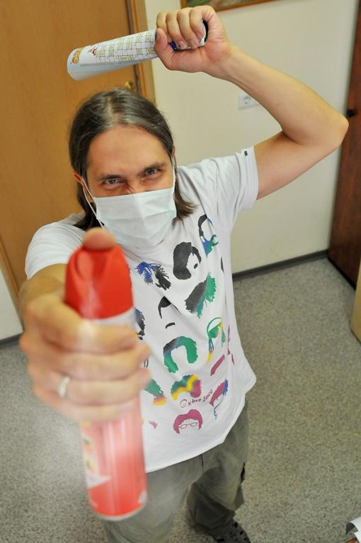 Дончане борются с комарами всеми доступными способами. Фото Константина БУНОВСКОГО