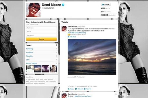Твиттов у Деми пока немного...