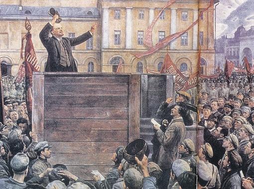 Потом Троцкого и Каменева заретушировали. На картине Бродского вместо них - восторженные репортеры.