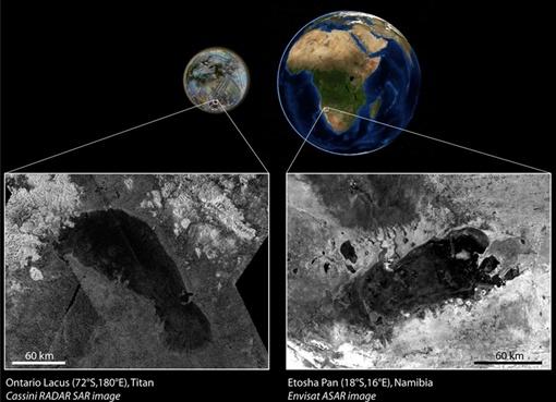 Чудо-озеро. Фото НАСА
