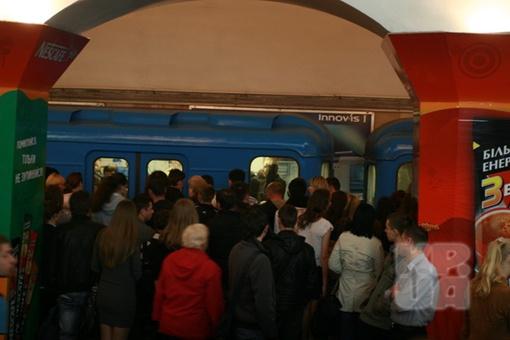 Давка на станции. фото Антона Лущика