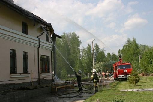 Хозяев не было в особняке. Фото ГУ МЧС в Полтавской области